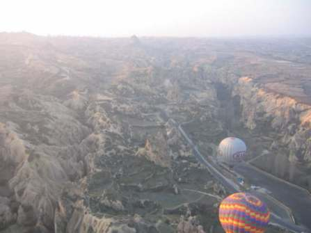 Just before descent - Cappadocia